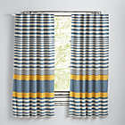 "63"" Yellow Fine Lines Curtain(Sold Individually)"