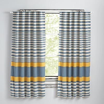 "63"" Yellow Fine Lines Curtain"