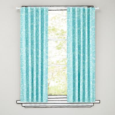 Floral Blackout Curtains (Aqua)