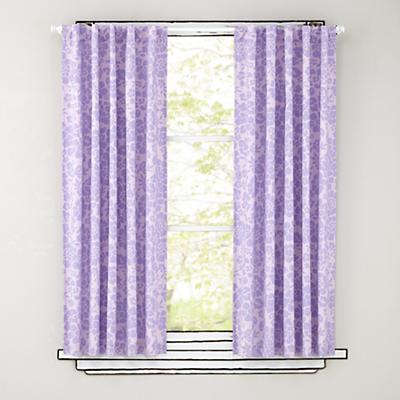"84"" Lavender Floral Curtain Panels"