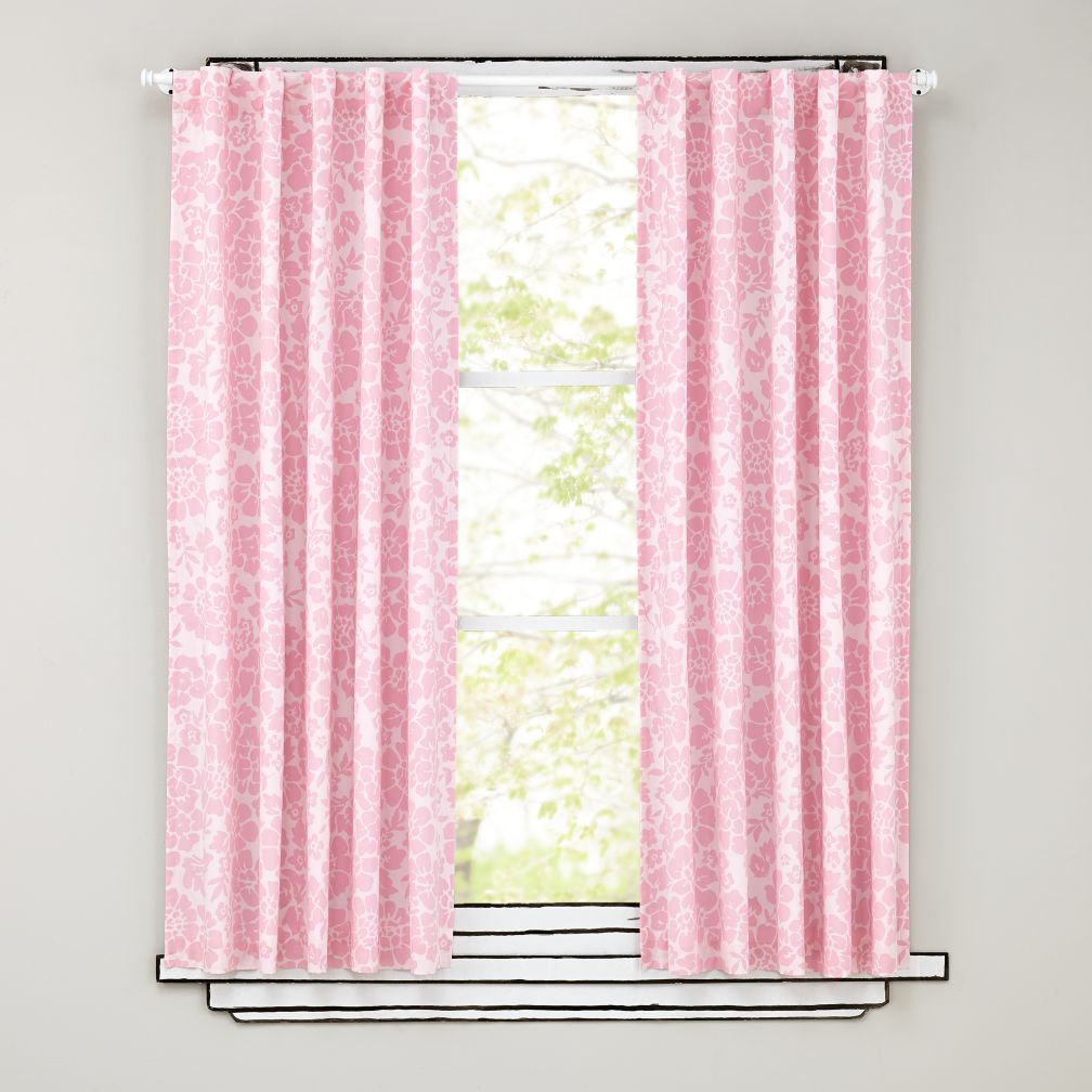 Floral Blackout Curtains (Pink)
