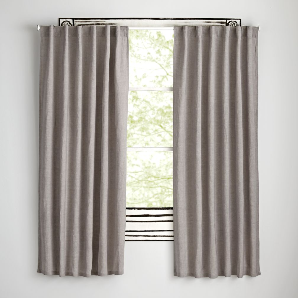 "96"" Grey Fresh Linen Curtain"