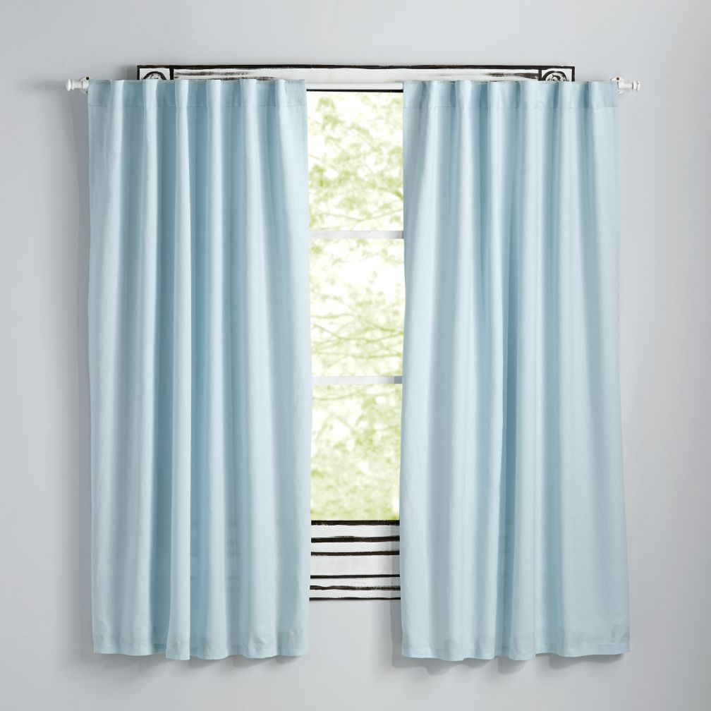 "63"" Light Blue Fresh Linen Curtain"