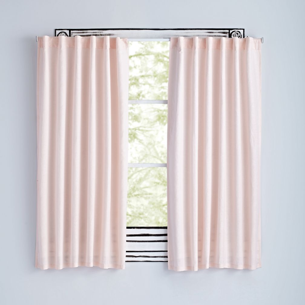 "84"" Light Pink Fresh Linen Curtain"