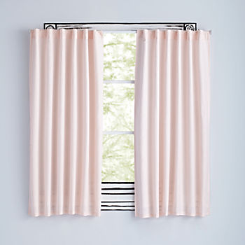 "63"" Light Pink Fresh Linen Curtain"