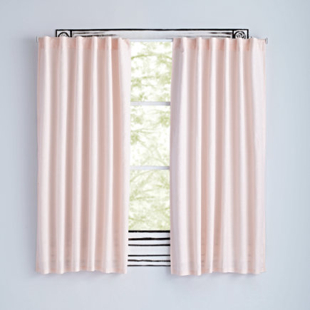 63 Light Pink Fresh Linen Curtain(Sold Individually)