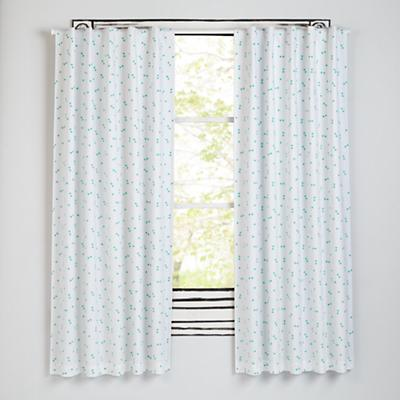 "84"" Go Lightly Blackout Curtain (Mint Triangle)"