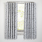 "84"" Grey Floral Go Lightly Curtain (Sold Individually)"