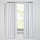 "Go Lightly Grey Triangle 63"" Blackout Curtain"