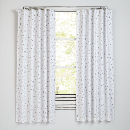 63 Grey Triangle Go Lightly Curtain (Sold Individually)
