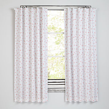 "63"" Go Lightly Blackout Curtain (Pink Triangle)"