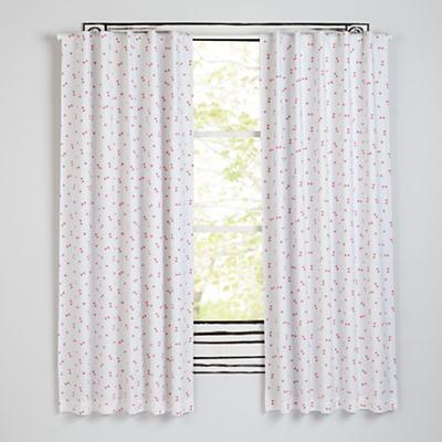 "96"" Go Lightly Blackout Curtain (Pink Triangle)"