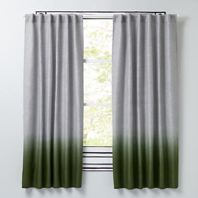 Half Dipped Curtains (Green)