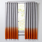 "84"" Orange Half Dipped Curtain"