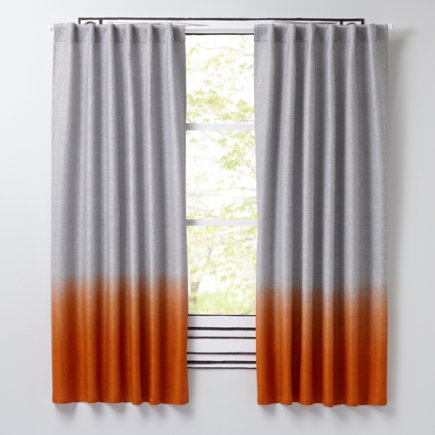 Half-Dipped Curtains (Orange) - 63 Orange Half Dipped Curtain