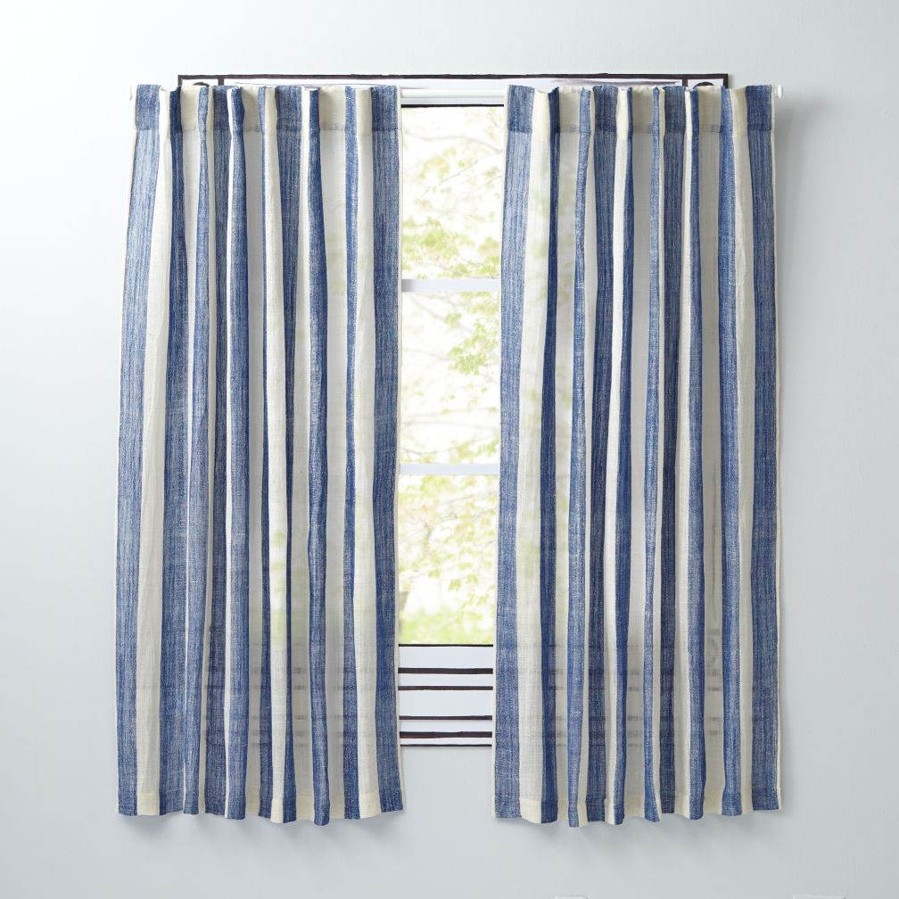 Line Up Curtains (Blue)