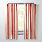 "63"" Red Line Up Curtain"