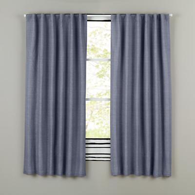 "96"" Fresh Linen Curtain (Blue)"