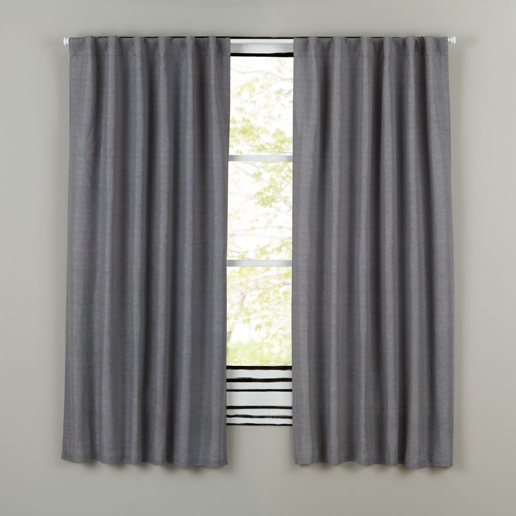 "84"" Fresh Linen Curtain (Grey)"