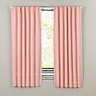 "96"" Pink Fresh Linen Curtain"