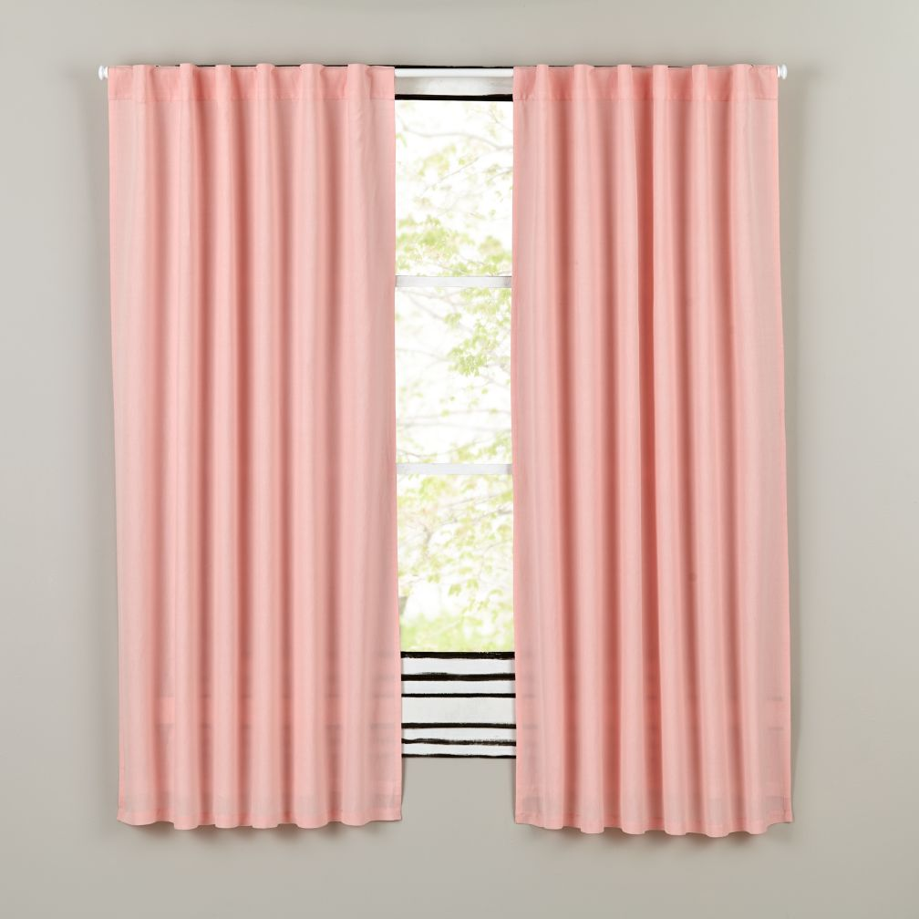 Fresh Linen Curtains (Pink)