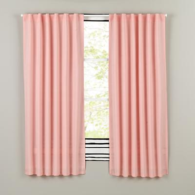 "63"" Fresh Linen Curtain (Pink)"