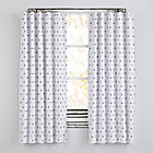 """63"""" Blue Triangle Little Prints Blackout Curtain(Sold Individually)"""