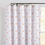 "96"" Little Prints Blackout Curtain (Orange Triangle)"