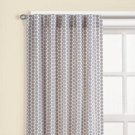 Kids Curtains: Kids Khaki Dot Curtain Panels - 63 Khaki Dot Curtain (Sold individually)