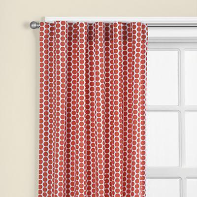 "63"" Orange Dot Curtain Panel"