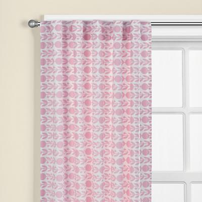"63"" Pink Floral Curtain Panel"