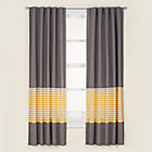 "63"" Yellow Striped Curtain(Sold individually)"