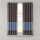 "84"" Blue Striped Curtain(Sold individually)"