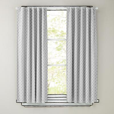 "63"" Grey Polka Dot Curtain Panels"