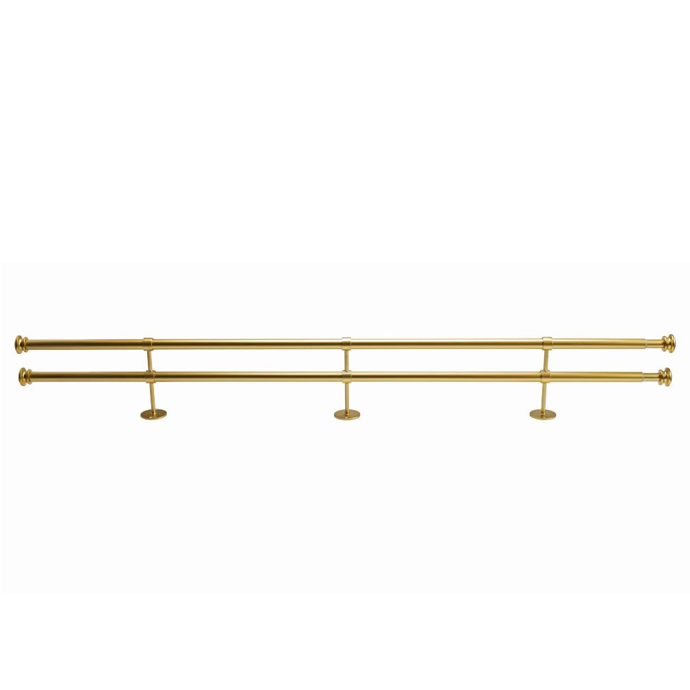 "48-84"" Button Cap Double Rod (Gold)"