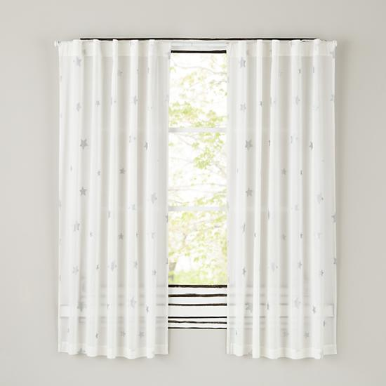 84 Silver Star Curtain The Land Of Nod