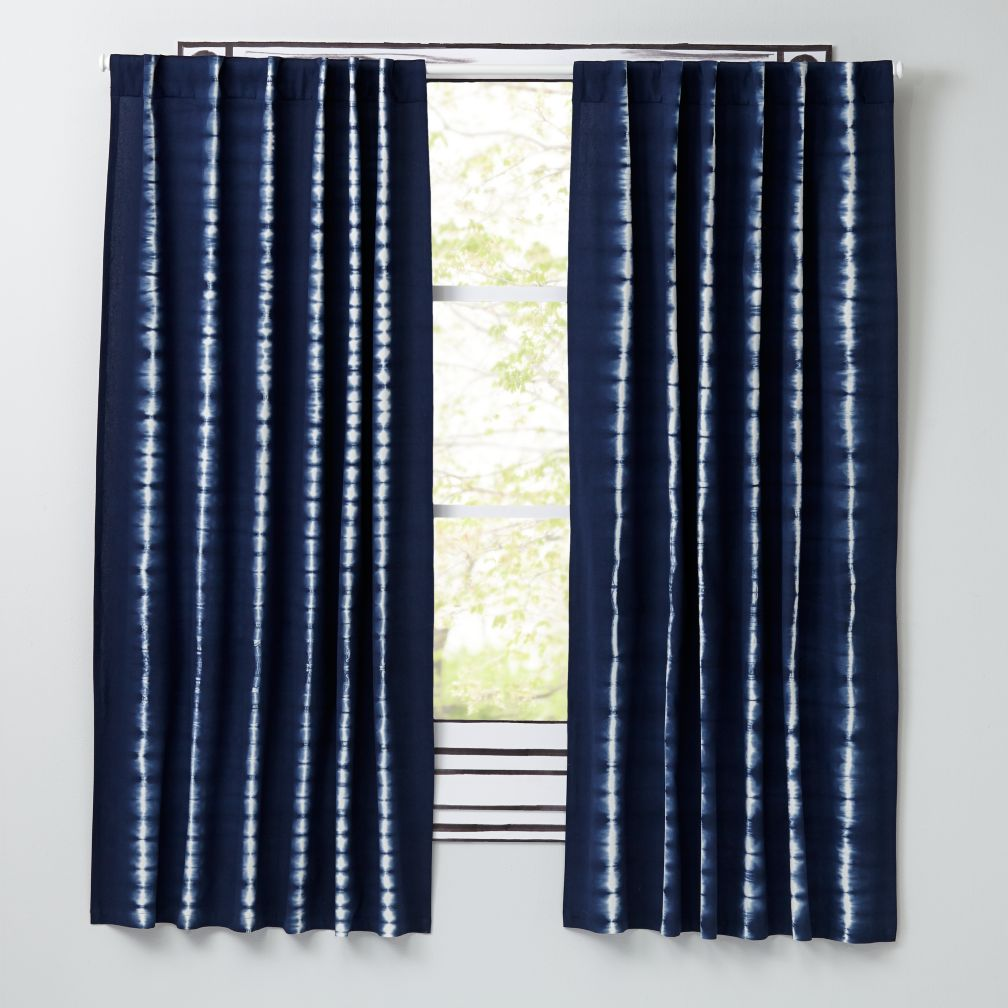 Tie-Dye Curtains (Blue)