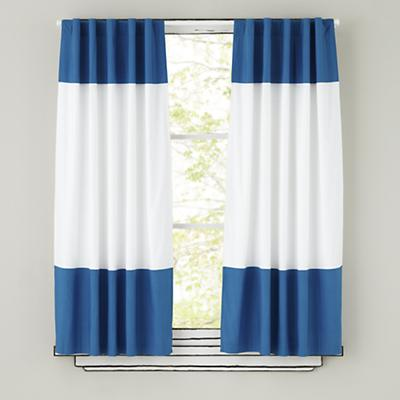 Color Edge Curtains (Blue)