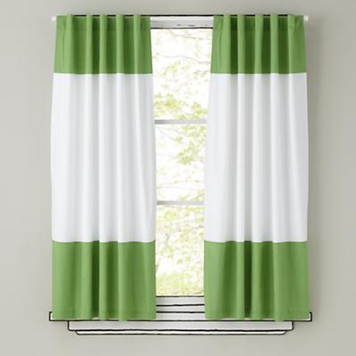 Color Edge Curtains (Green)