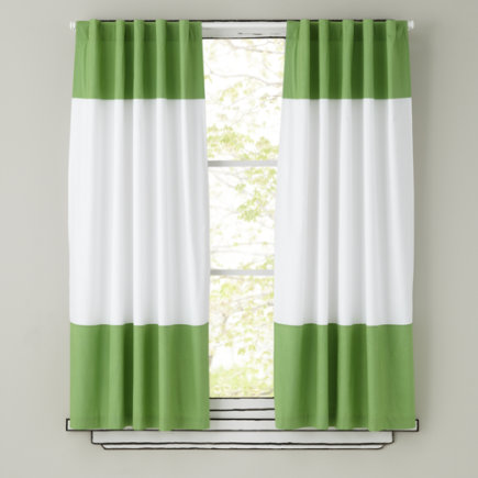 Kids Curtains Green And White Curtain Panels