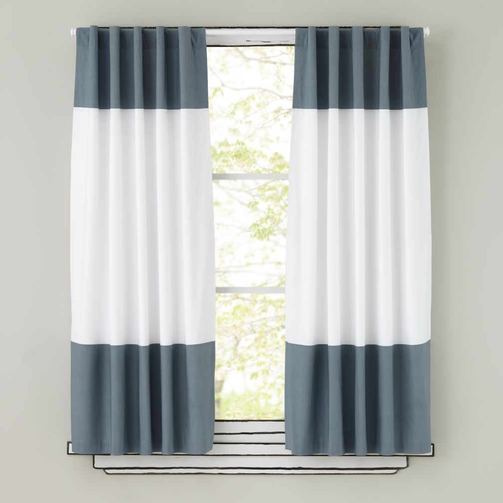 "84"" Color Edge Curtain (Grey)"