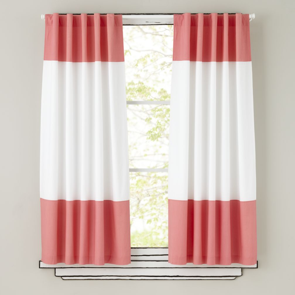 Color Edge Curtains (Pink)