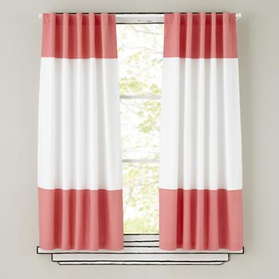 "84"" Color Edge Curtain (Pink)"