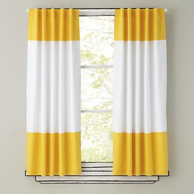 Color Edge Curtains (Yellow)