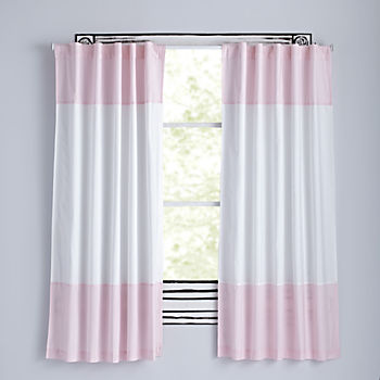 "63"" Color Edge Curtain (Light Pink)"