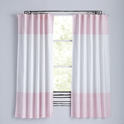 63 Light Pink Color Edge Curtain(Sold Individually)