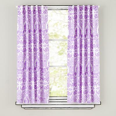 "84"" Sleep Patterns Curtain Panels (Lavender)"