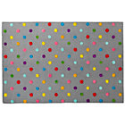 8 x 10' Grey Candy Dot Rug