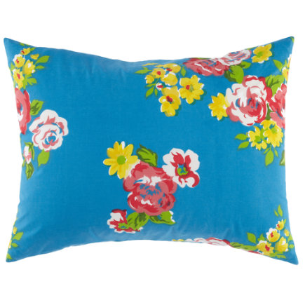 Girls Pillow Shams: Blue Countryside Sham - Petit Chateau Sham