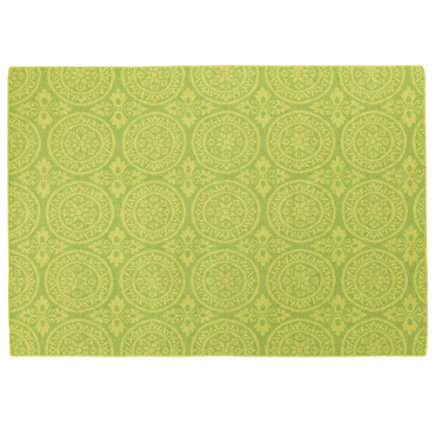 Kids Rugs: Elegant Timeless Green Rug - 4 x 6 Green Heirloom Rug